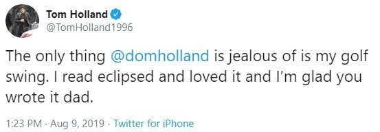 tom holland spider-man jealous dad response