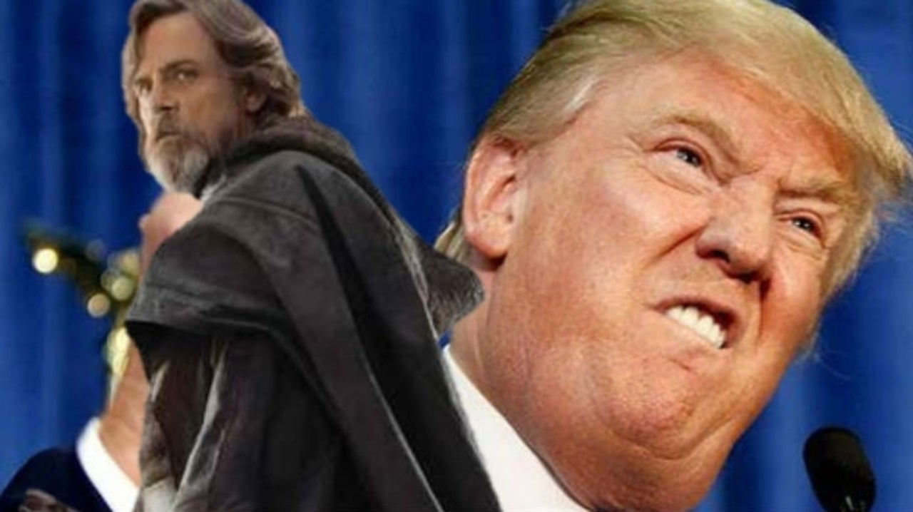 Star Wars Star Mark Hamill Pokes Fun at Trump Using Terrified Luke Skywalker Toy