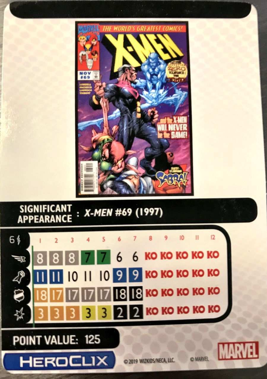 X-Men The Animated Series HeroClix 15