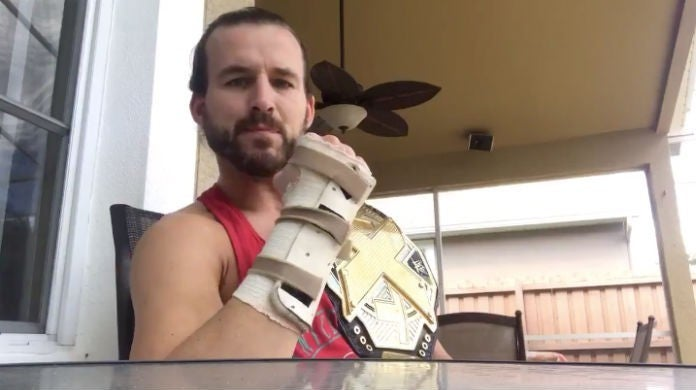 Adam-Cole-Wrist-Fracture-NXT-Championship