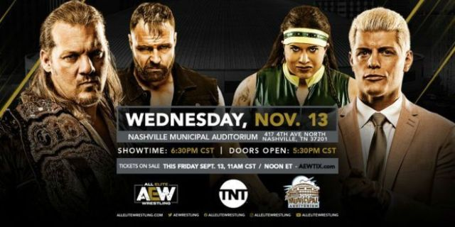 Watch: AEW on TNT Episode Announced for Nashville