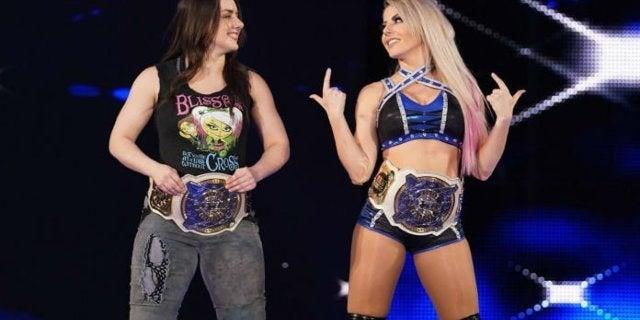 Watch: Alexa Bliss Reacts to Nikki Cross' Spank During WWE Raw