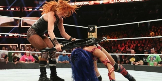 Becky Lynch Fined $10,000 for Hitting Referee With a Chair at Clash of Champions
