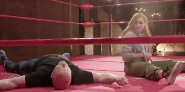 PREWRITE: Watch: Becky Lynch Nails 'Stone Cold' Steve Austin With a Stunner on 'Straight Up Steve Austin'