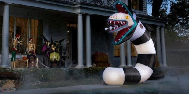 This 9.5-Foot Inflatable Beetlejuice Sandworm Halloween Decoration is Only the Beginning