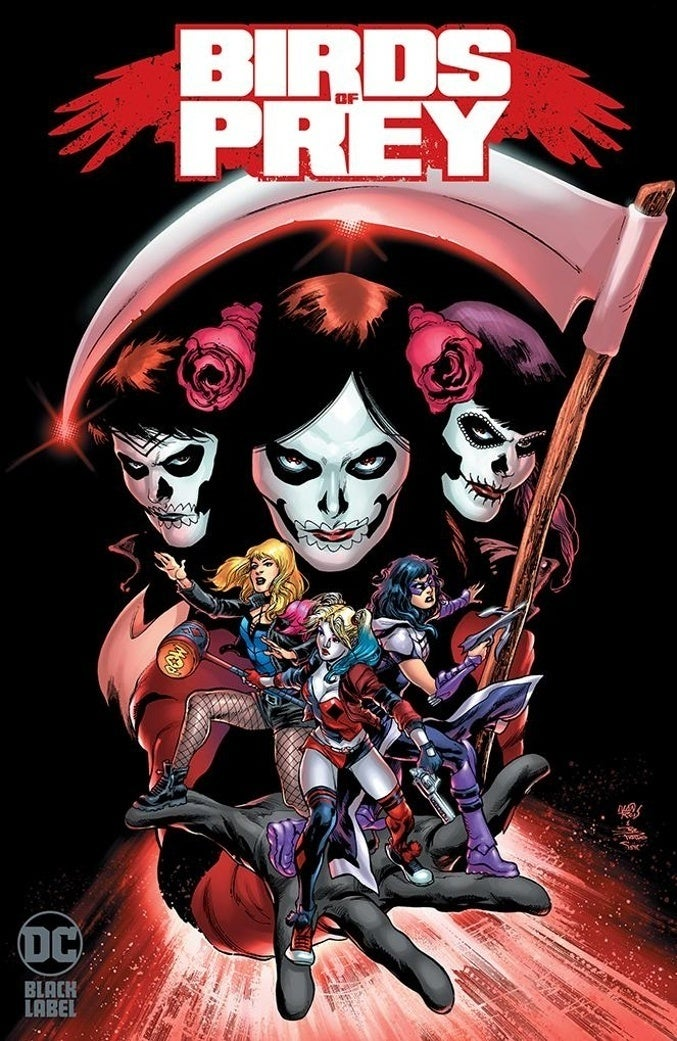 birds of prey comic black label dc cover