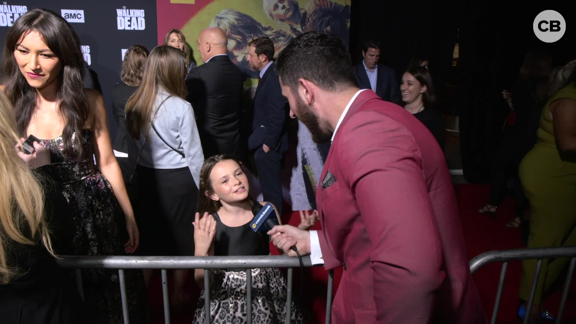 Cailey Fleming - THE WALKING DEAD Season 10 Red Carpet Premiere Interview screen capture
