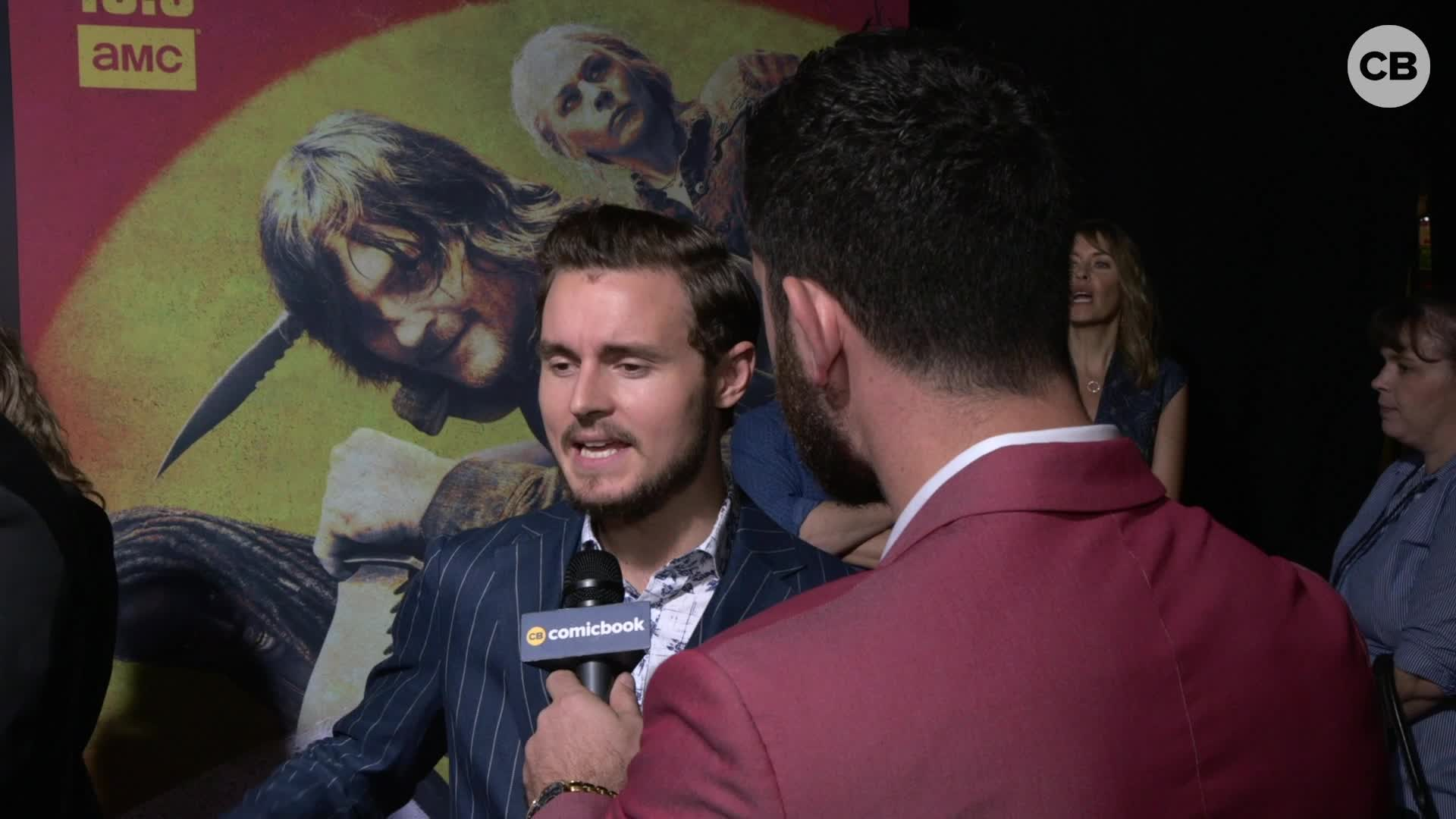 Callan McAuliffe - THE WALKING DEAD Season 10 Red Carpet Premiere Interview screen capture