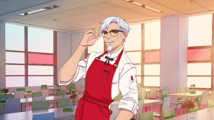 colonel sanders dating sim cropped hed