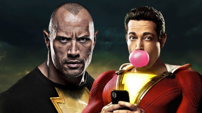 Dwayne Johnson Black Adam Zachary Levi Shazam
