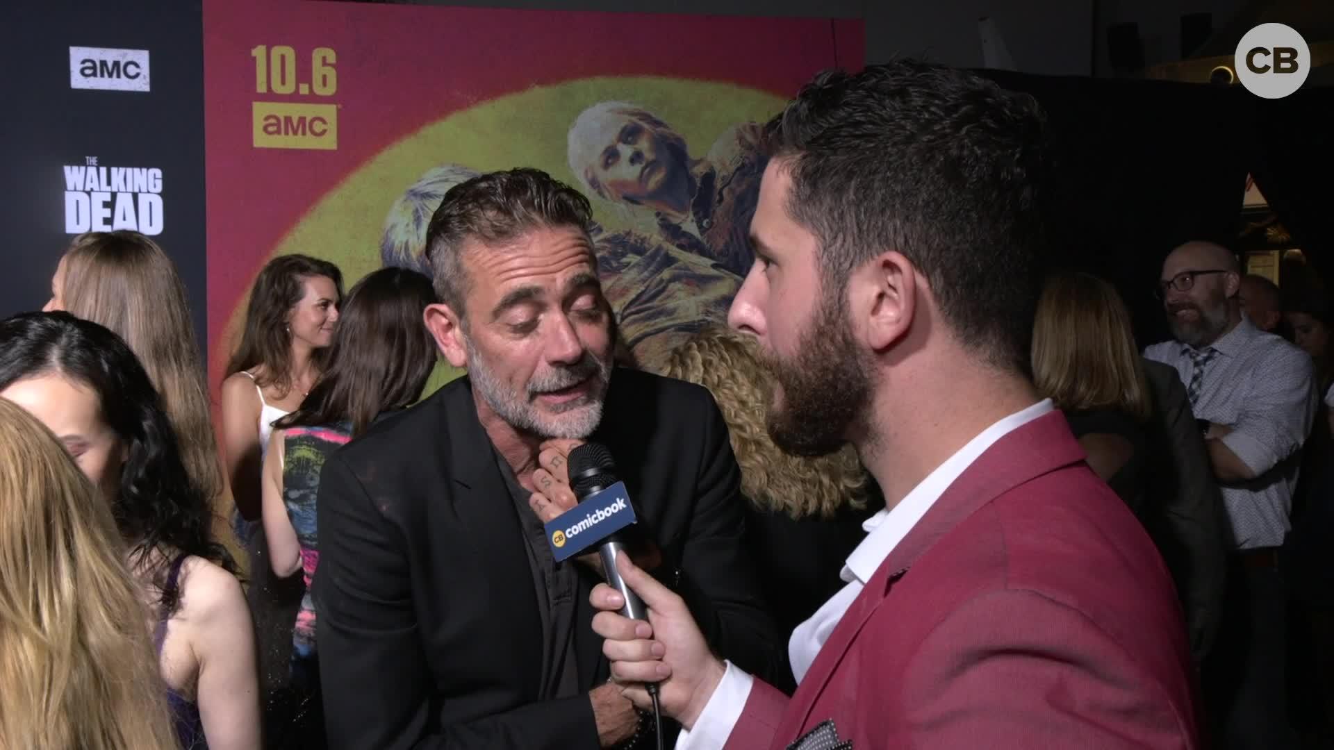 Jeffrey Dean Morgan - THE WALKING DEAD Season 10 Red Carpet Premiere Interview screen capture