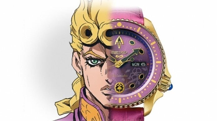 JoJo's Bizarre Adventure Golden Wind Seiko Watch Collaboration