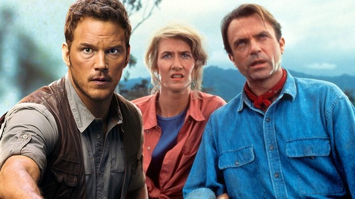 jurassic world chris pratt sam neill laura dern