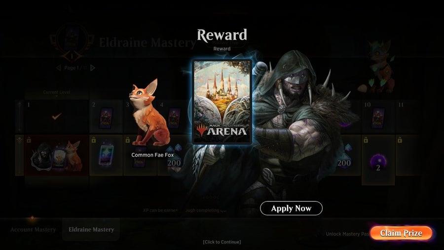 Magic Arena Throne of Eldraine Mastery Pass