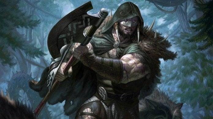 Magic Garruk Cursed Huntsman Throne of Eldraine