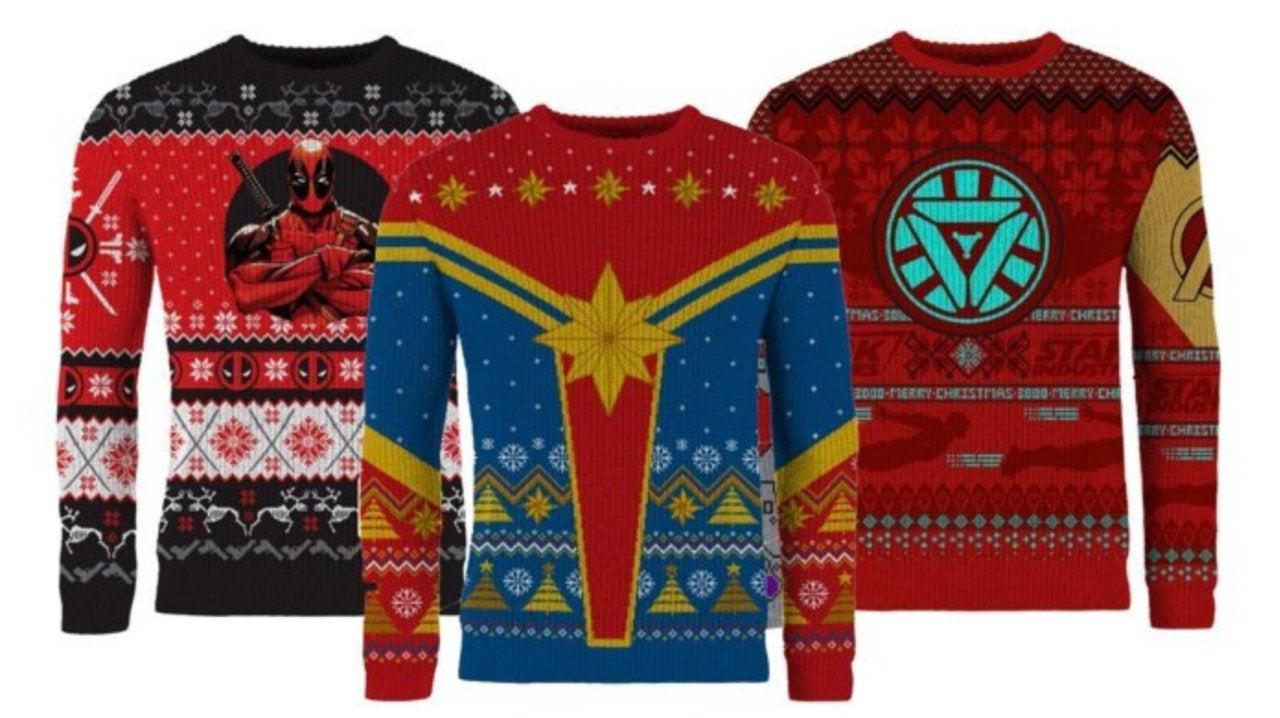 Tim Burton Christmas Jumper.Captain Marvel Deadpool And Iron Man Kick Off Marvel S