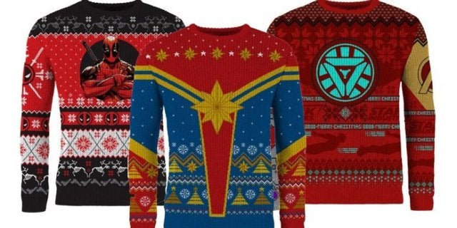 Captain Marvel, Deadpool, and Iron Man Kick Off Marvel's Ugly Christmas Sweater Collection for 2019