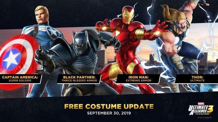 Marvel Ultimate Allianec 3 DLC Costumes