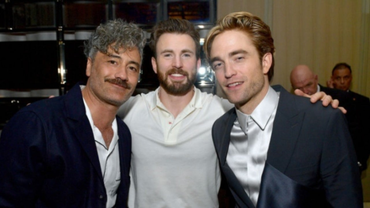 Batman Star Robert Pattinson and Captain America Star Chris Evans Meet at TIFF