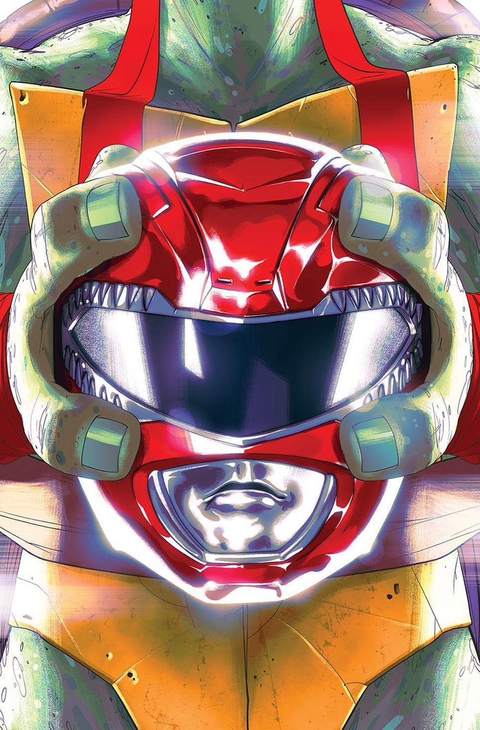 Mighty-Morphin-Power-Rangers-Teenage-Mutant-Ninja-Turtles-TMNT-Cover-Raphael