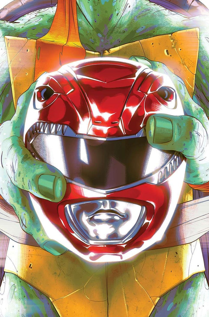 Mighty-Morphin-Power-Rangers-Teenage-Mutant-Ninja-Turtles-TMNT-Cover-Michelangelo