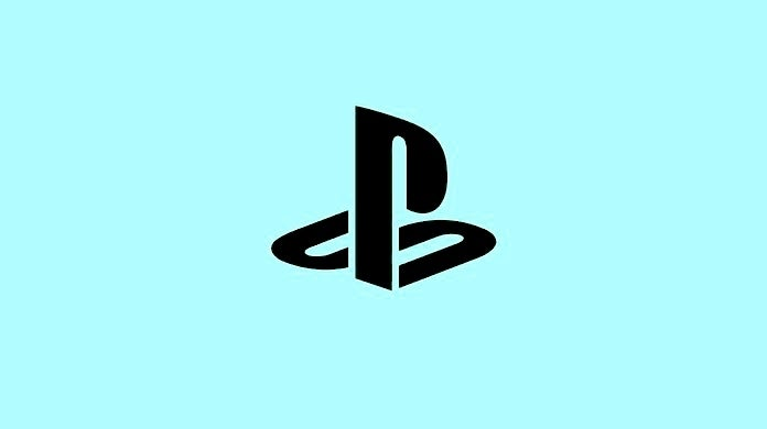 playstation light blue and black logo