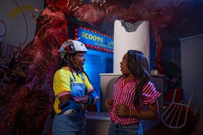 Priah Ferguson from Netflix's Stranger Things at Universal Studios' Halloween Horror Nights