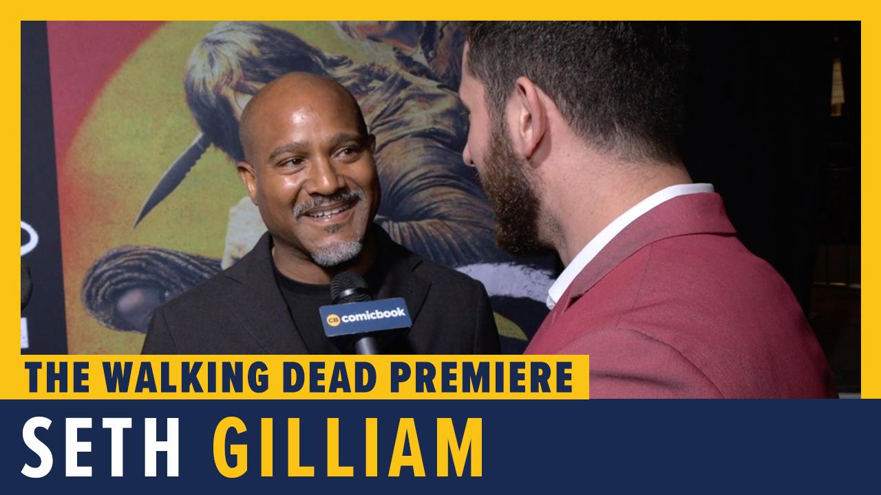 Seth Gilliam - THE WALKING DEAD Season 10 Red Carpet Premiere Interview screen capture