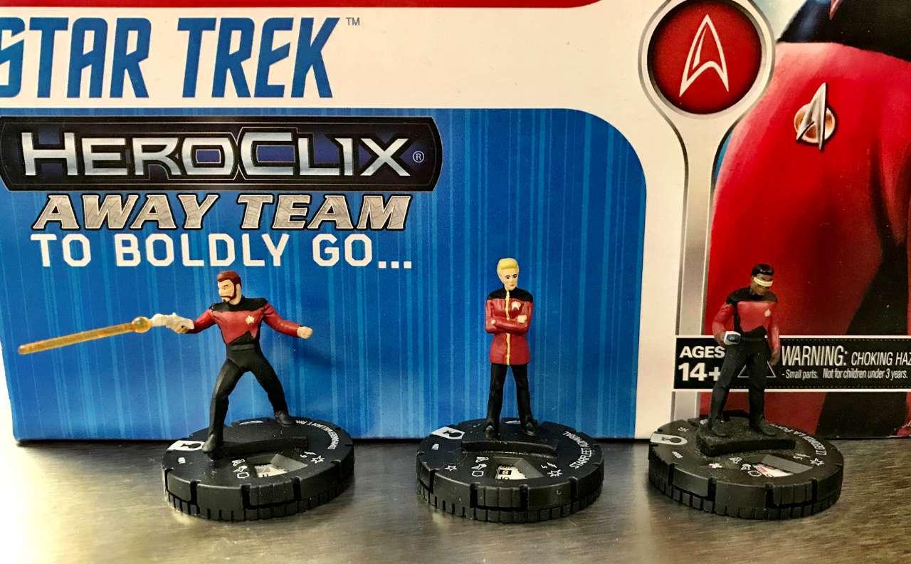 Star Trek The Next Generation HeroClix Away Team To Boldly Go  01