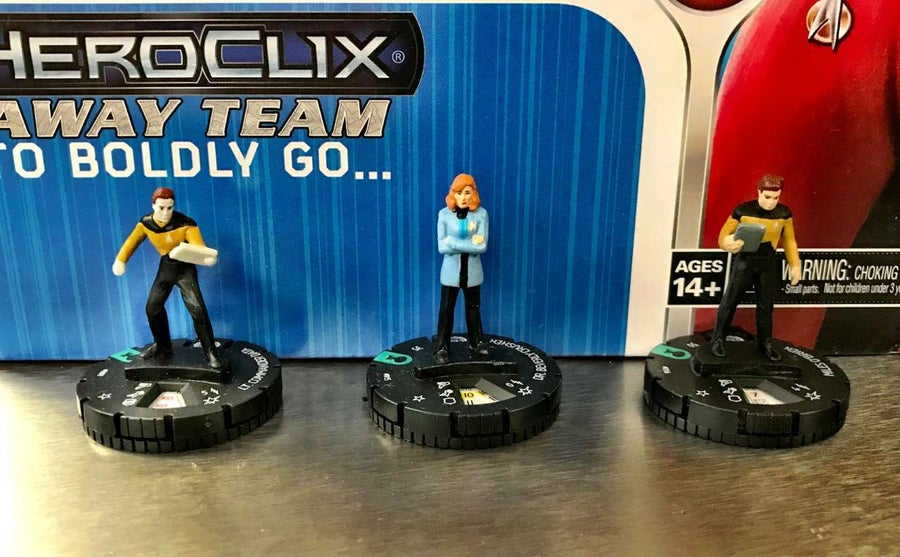 Star Trek The Next Generation HeroClix Away Team To Boldly Go  03