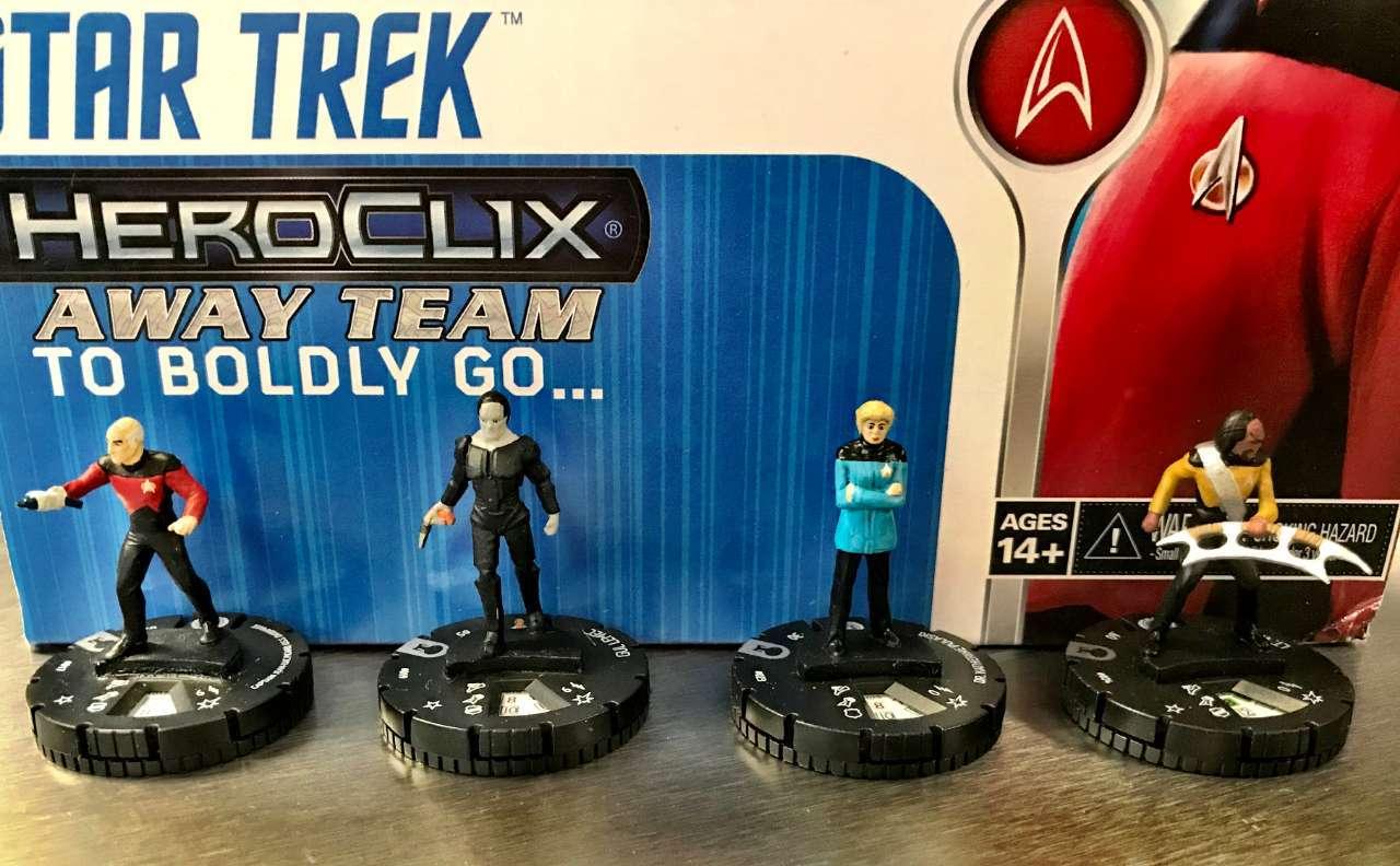 Star Trek The Next Generation HeroClix Away Team To Boldly Go  05