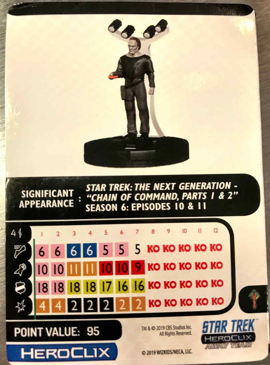 Star Trek The Next Generation HeroClix Away Team To Boldly Go  12