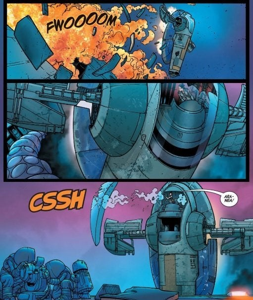 star wars comic rey boba fett slave i