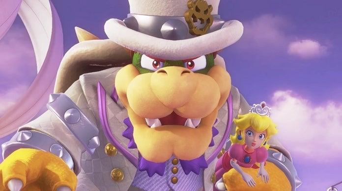 Super Mario Odyssey Bowser Peach