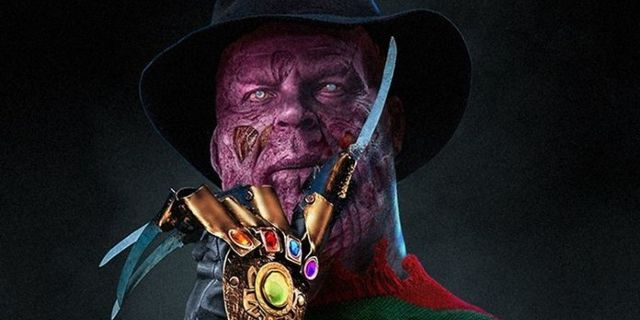 Thanos Becomes Freddy Krueger in Titan on Elm Street Fan Art