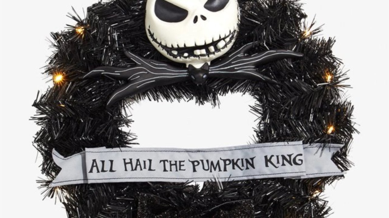 Disney The Nightmare Before Christmas Wreath All Hail The Halloween King