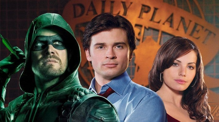 Tom Welling Erica Durance Smallville Reunion Arrowverse Crisis Crossover