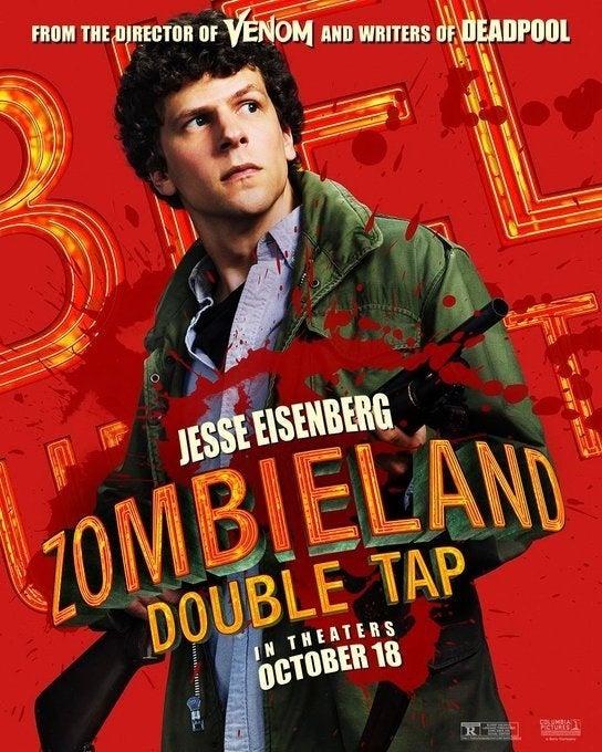 zombieland 2 poster jesse eisenberg