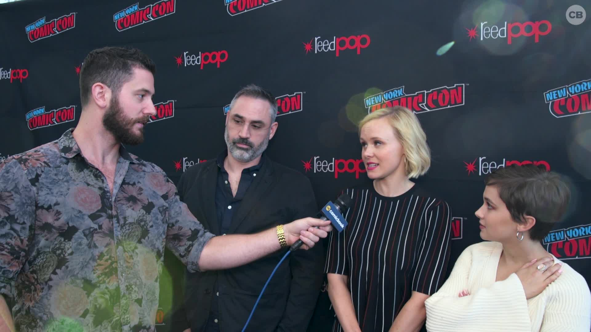 Alison Pill Hot alex garland, alison pill and cailee spaeny - nycc 2019