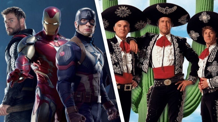 avengers endgame cast three amigos reboot