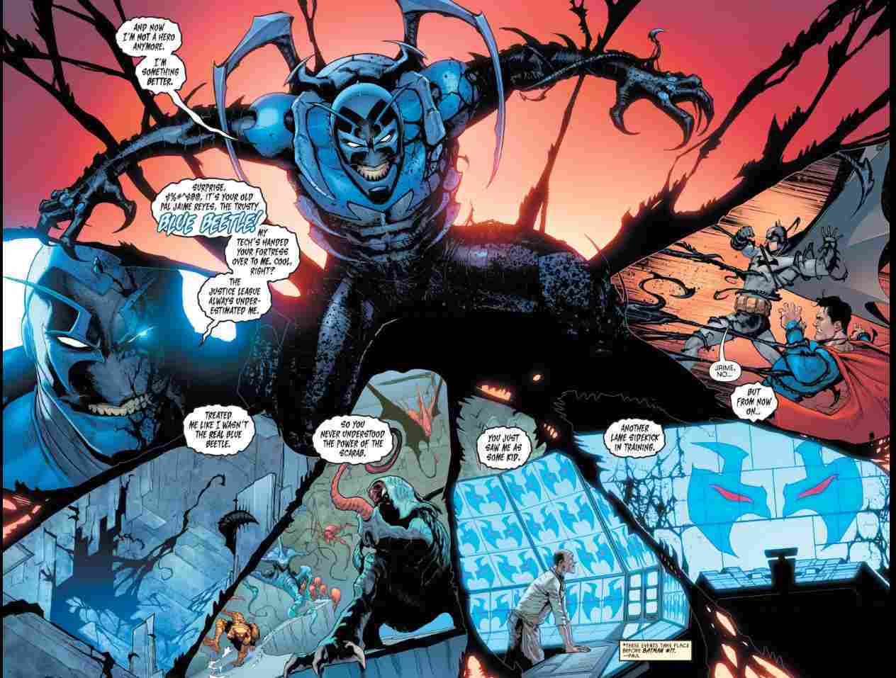 Blue Bettle Turns Evil
