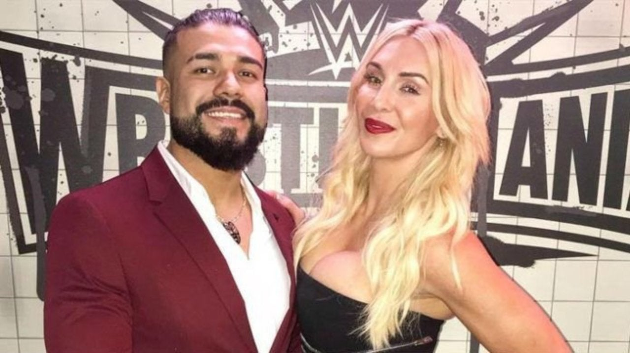 Photo Charlotte Flair And Andrade Show Off Stunning Harley Quinn And Joker Halloween Costumes