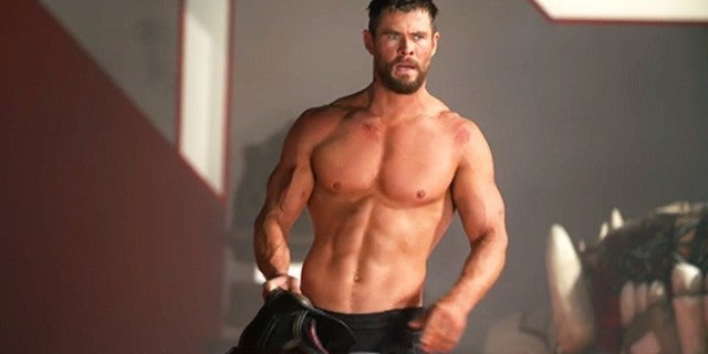 """Chris Hemsworth Is No Longer Fat Thor in Workout Video Where His Shirt """"Burst Into Flames"""""""