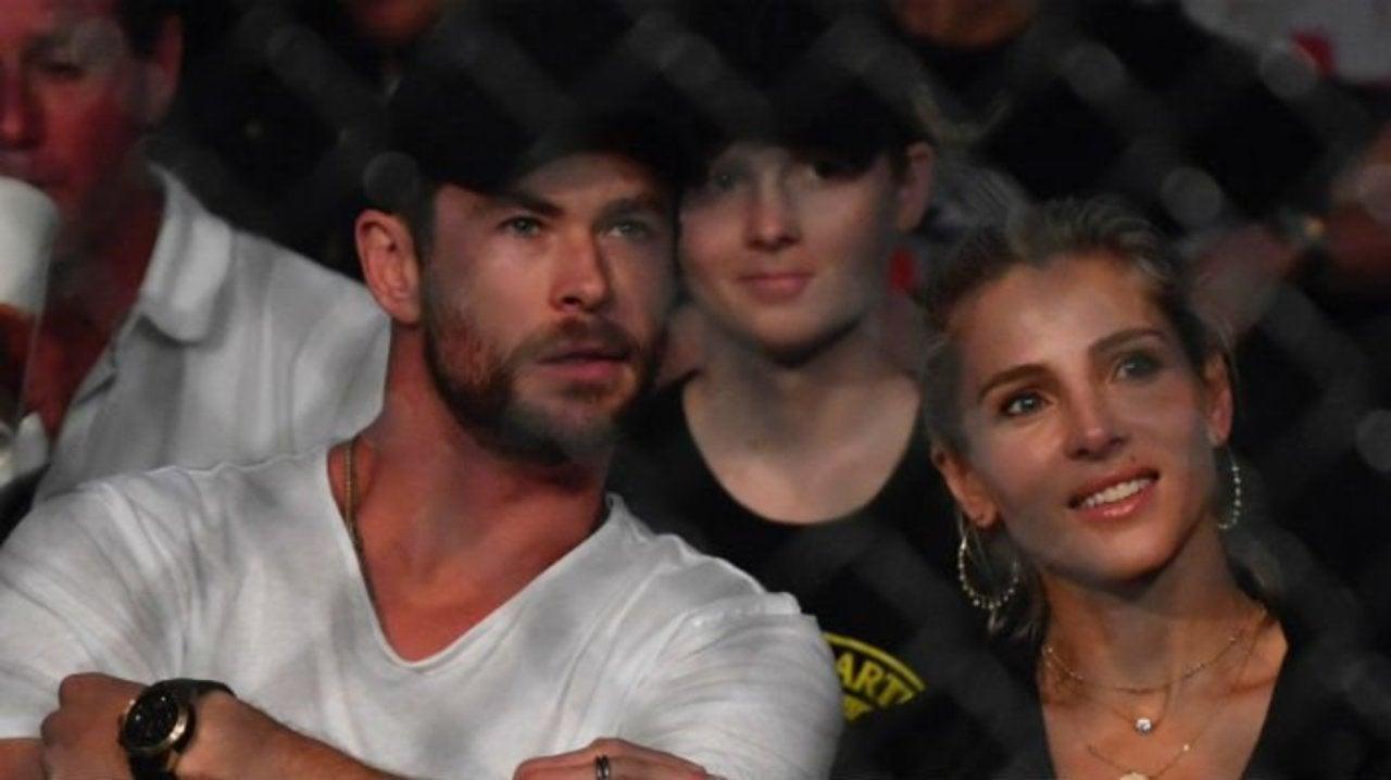 Chris Hemsworth Spotted at UFC 243 at Marvel Stadium