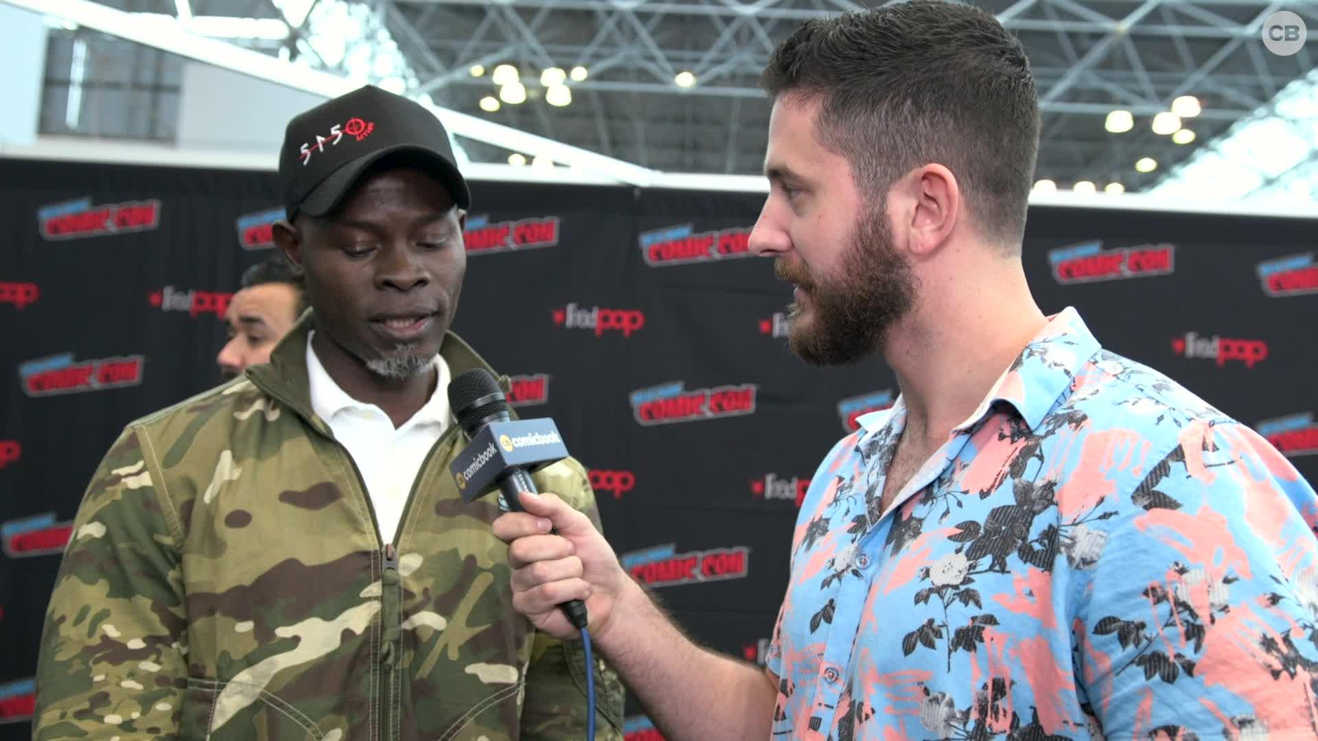 Djimon Hounsou - NYCC 2019 Exclusive Interview screen capture