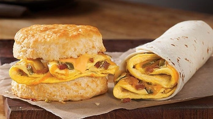 hardees breakfast biscuit