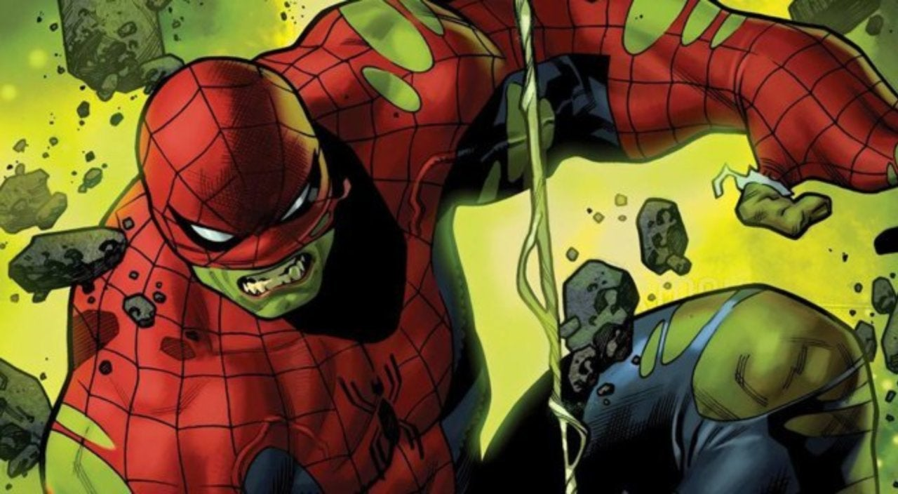 Peter Parker Becomes the Amazing Spider-Hulk