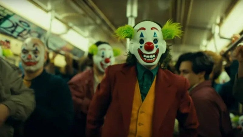 Joker Movie Clown Mask Subway Scene