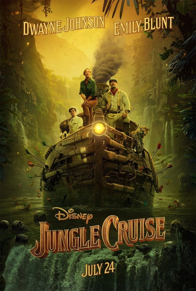 jungle cruise poster the rock emily blunt