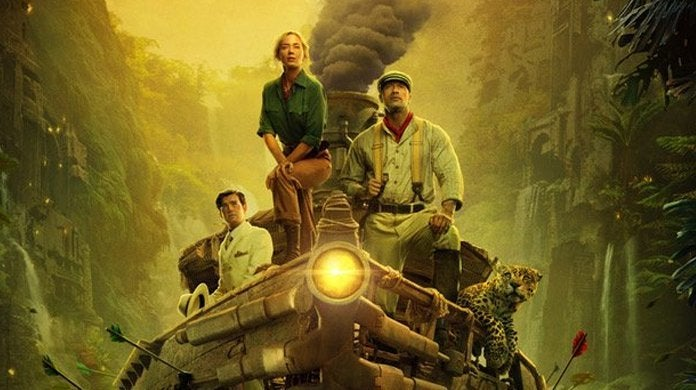 jungle cruise poster the rock emily blunt header